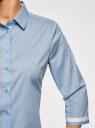 Блузка хлопковая с рукавом 3/4 oodji #SECTION_NAME# (синий), 13K03005B/26357/7000B - вид 5