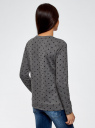 Свитшот принтованный с надписью на груди oodji для женщины (серый), 14801043-3/46171/2529Z