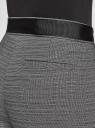 Шорты классические с декором на поясе oodji для женщины (черный), 11801119/49831/2910M