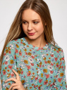 Платье из струящейся ткани с ремнем oodji для женщины (зеленый), 21912001-4B/17358/6530F