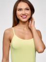 Майка базовая на бретелях oodji для женщины (зеленый), 14305023-3B/46866/5000Y
