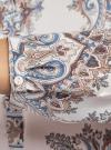 Блузка из струящейся ткани с принтом oodji #SECTION_NAME# (слоновая кость), 21411144-3/35542/3039E - вид 5