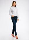 Блузка с нагрудными карманами и регулировкой длины рукава oodji #SECTION_NAME# (белый), 11400355-3B/14897/1029Q - вид 6