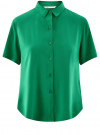 Блузка вискозная с короткими рукавами oodji #SECTION_NAME# (зеленый), 11411137B/14897/6E02N