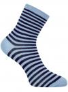 Носки базовые хлопковые oodji #SECTION_NAME# (синий), 57102466B/47469/7079S