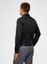 Рубашка хлопковая в мелкую графику oodji #SECTION_NAME# (черный), 3L110275M/44425N/2923G - вид 3