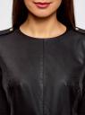 Платье из искусственной кожи комбинированное oodji #SECTION_NAME# (черный), 11902146/42008/2900N - вид 4
