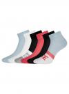 Комплект из шести пар хлопковых носков oodji для женщины (разноцветный), 57102704T6/47469/12 - вид 2