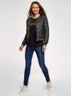 Куртка стеганая с круглым вырезом oodji для женщины (черный), 10203079/49439/2900B - вид 6
