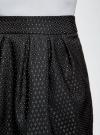 Юбка расклешенная с мягкими складками oodji #SECTION_NAME# (черный), 11600388-2/46140/2912D - вид 5