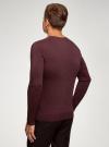 Пуловер базовый с V-образным вырезом oodji #SECTION_NAME# (красный), 4B212007M-1/34390N/4900M - вид 3