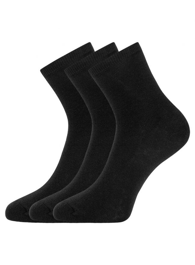 Комплект из трех пар носков oodji для женщины (черный), 57102466T3/47469/38