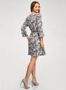 Платье вискозное с ремнем oodji #SECTION_NAME# (синий), 11900180B/42540/7933O - вид 3
