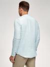 Рубашка льняная без воротника oodji #SECTION_NAME# (зеленый), 3B320002M/21155N/6000N - вид 3