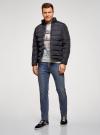 Куртка стеганая с воротником-стойкой oodji #SECTION_NAME# (синий), 1B111005M/48961N/7900N - вид 6