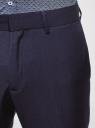 Брюки slim легкие oodji для мужчины (синий), 2L210220M/47748N/7500N