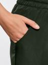 Брюки легкие из струящейся ткани oodji #SECTION_NAME# (зеленый), 21705061-4/35184/6900N - вид 5