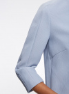 Жакет из фактурной ткани на молнии oodji #SECTION_NAME# (синий), 21204040/42054/7000N - вид 5