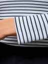 Футболка с длинным рукавом и вырезом-лодочкой oodji для женщины (белый), 14207004/46674/1079S