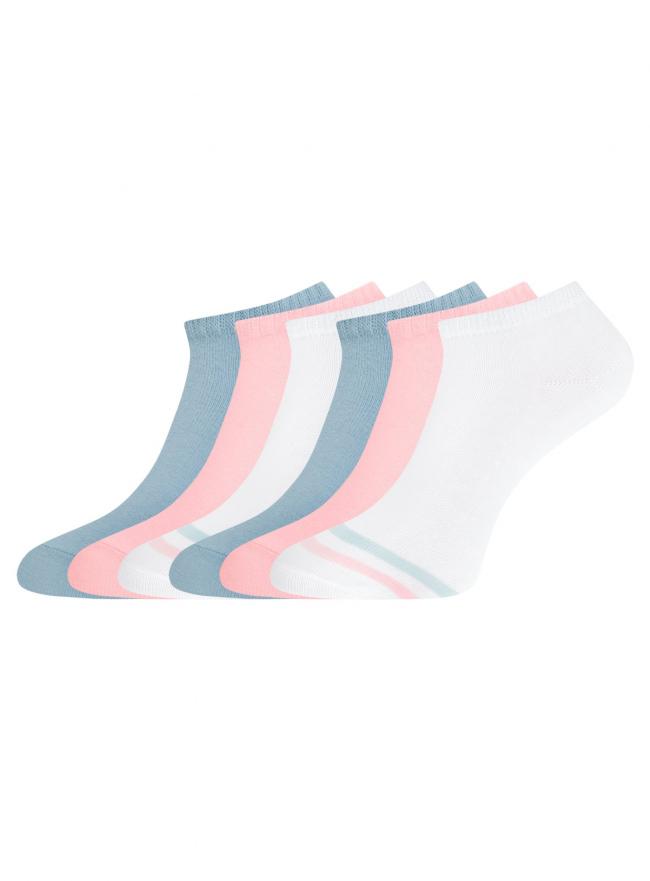 Комплект укороченных носков (6 пар) oodji для женщины (разноцветный), 57102433T6/47469/67