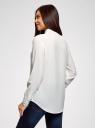 Блузка прямого силуэта с нагрудным карманом oodji #SECTION_NAME# (белый), 11411134-1B/48853/1200N - вид 3