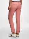 Брюки-чиносы с ремнем oodji для женщины (розовый), 11706190-5B/32887/4B00N
