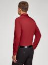 Рубашка базовая приталенная oodji #SECTION_NAME# (красный), 3B140000M/34146N/4503N - вид 3