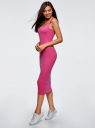 Платье миди на бретелях oodji для женщины (розовый), 14015020B/48290/4700N