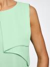 Топ из легкой струящейся ткани oodji #SECTION_NAME# (зеленый), 11400425-3/45287/6500N - вид 5