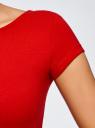 Платье миди с вырезом на спине oodji #SECTION_NAME# (красный), 24001104-5B/47420/4501N - вид 5