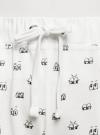 Брюки трикотажные на завязках oodji для женщины (белый), 16701042/46919/1229O - вид 4