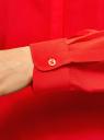 Блузка вискозная прямого силуэта oodji #SECTION_NAME# (красный), 21400394-1B/24681/4502N - вид 5