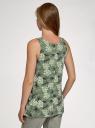Майка свободного силуэта на широких бретелях oodji для женщины (зеленый), 14305042-2/49253/6260O