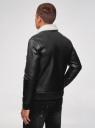 Куртка из искусственной кожи на молнии oodji #SECTION_NAME# (черный), 1L511061M/48591N/2900N - вид 3