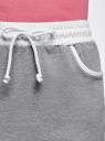 Юбка трикотажная на эластичном поясе oodji для женщины (серый), 14101098B/46155/2310B