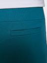 Брюки трикотажные спортивные oodji для женщины (зеленый), 16701010-3/46980/6C00N