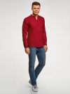 Рубашка льняная без воротника oodji #SECTION_NAME# (красный), 3B320002M/21155N/4500N - вид 6
