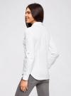 Рубашка базовая с нагрудными карманами oodji #SECTION_NAME# (белый), 11403222B/42468/1000N - вид 3