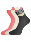 Носки безбортные (комплект из 3 пар) oodji для женщины (разноцветный), 57102802-2T3/47613/15 - вид 2