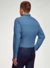 Рубашка хлопковая в мелкую графику oodji #SECTION_NAME# (синий), 3L110373M/19370N/7975G - вид 3