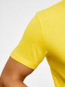 Футболка базовая oodji #SECTION_NAME# (желтый), 5B621002M/44135N/5100N - вид 5