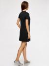 Платье свободного силуэта из фактурной ткани oodji #SECTION_NAME# (черный), 14000162-7/47481/2919P - вид 3