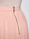 Юбка со складками из струящейся ткани oodji #SECTION_NAME# (розовый), 21600285-2B/17358/4000N - вид 5