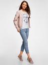 Капри джинсовые с потертостями oodji #SECTION_NAME# (синий), 12105016/45253/7500W - вид 6