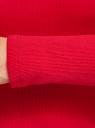 Водолазка базовая из хлопка oodji для женщины (красный), 15E11009B/48002/4500N