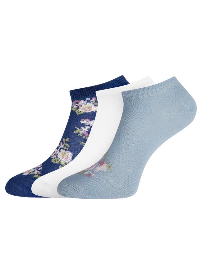 Комплект из трех пар укороченных носков oodji для женщины (разноцветный), 57102433T3/47469/44