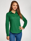 Рубашка базовая с нагрудными карманами oodji #SECTION_NAME# (зеленый), 11403222B/42468/6E00N - вид 2