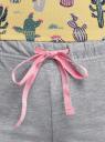 Пижама хлопковая с принтом oodji для женщины (желтый), 56002199-8/46154/5020F