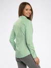Рубашка приталенная с нагрудными карманами oodji #SECTION_NAME# (зеленый), 11403222-4/46440/6510S - вид 3