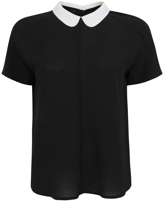 Блузка oodji для женщины (черный), 11400431/43108/2910B
